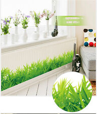 Removable Wall Stickers Room Diy Bedroom Green Grass Vinyl Decal Art Home
