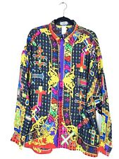 RARE GIANNI VERSACE Silk Miami 1994 Miami collection Sz 54 NEW With Tags