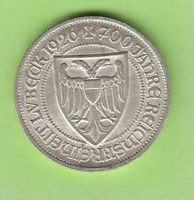 3 Reichsmark 1926 A Lübeck fast Stempelglanz toll erhalten nswleipzig