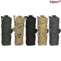 VIPER ELITE EXTENDED PISTOL MAG POUCH GUN HOLDER MOLLE AIRSOFT ARMY WEBBING CAMO
