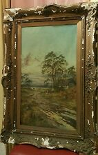 19th century painting by E. Clark i think it is English.  Very large
