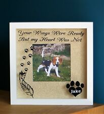 Personalised wooden photo frame, photo print, Dog in loving memory present gold