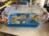 Ferplast Paula Hamster Cage Complete With Tubes water bottle. Bowl and house.