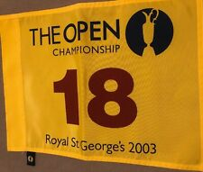 2003 Open Flag Golf Flag PGA British Open Official Pin Flag PGA British Open New