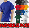 Hanes MENS T-Shirt Preshrunk Cotton with POCKET Tagless Tee S, M, L, XL, 2X, 3X