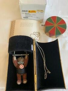 2007 Steiff Circus Dolly Bear & Pendant In Cylinder Box Trapeze Jewelry Bear COA