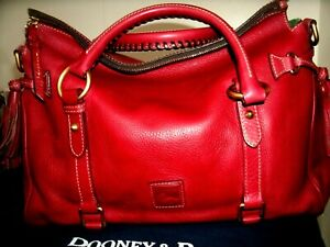 Dooney and Bourke Beautiful Large Scarlett Red Florentine Leather Satchel in EUC