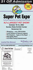 NEW JERSEY SUPER PET EXPO UNITED STATES UNUSED ADVERTISING COLOUR POSTCARD