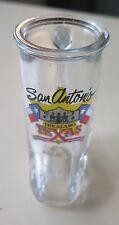 "San Antonio~The Alamo~ shot glass ~3"" tall~boot"