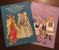 Tom Tierney Great Empresses Queens & Traditional Folk Europe Paper Dolls Books