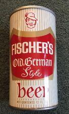 Vintage Fischer Old German Style Beer 12oz Can Straight Steel Auburndale FL