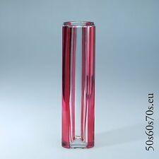 Glas Vase Val St. Lambert VSL signiert H=22 cm 60s Design #353