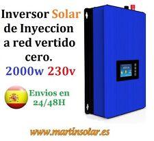 Inversor Solar de Inyección a red de vertido cero, 2000w 230v onda pura.