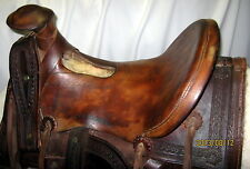 Rare ANTIQUE Complete 1870s Antique Sam Stagg Rigged Cowboy Saddle
