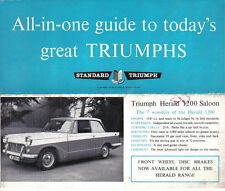 Triumph Herald S 1200 Saloon Conv. Coupe Estate TR4 1961-62 Original UK Brochure