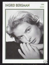 INGRID BERGMAN Sweden Actress Movie Star FRENCH ATLAS PHOTO BIO CARD