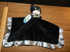 Hallmark Itty Bittys Baby Batman Blanket Plush Satin Trim Black Grey New W/Tags