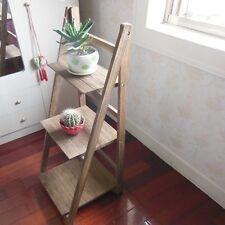 1X Wooden Coffee 3 Tier Shelf Planter Stand Storage Plant Pot