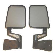 87-02 Jeep Wrangler YJ & TJ Heated Mirror Kit w/ LED Turn Signals PAIR - Black