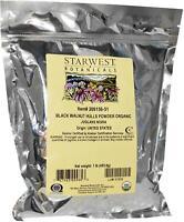 Organic Black Walnut Hulls Powder, Starwest Botanicals, 1 lbs