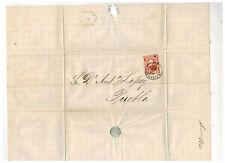 1873 Veracruz Mexico Cover to Puebla Dr Antonio Lopez 3