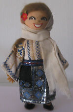 Author doll in Moldavian national costume. 1960. Free shipping.