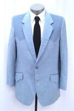 vintage 70s mens baby blue WESTERN JACKET blazer sport suit coat sheplers 44 L