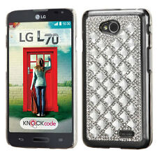 LG Optimus L70 Exceed 2 VS450PP MS323 Realm LS620 3D Diamante Case Back Cover