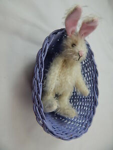 "World Of Miniature Bears By Theresa Yang 5"" Easter Bunny Rabbit #5070EC"