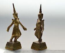 Antikes Paar Buddha Figur Tempelwächter Tempeltänzer vintage Asien