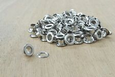 "100 pk Nickel Eyelets 5/32"" Garment Lacing Eyelets Hdwe"