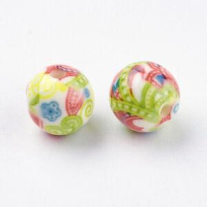 10 Pcs Round DarkKhaki Resin Beads Craft For DIY Jewelry Making 11~12mm Hole 2mm
