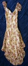 PAPILLON Women Size M Vtg 80's Multicolor Floral Dress Rayon India Boho Long