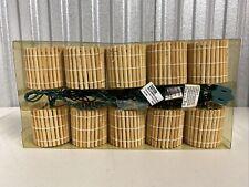 Tiki Bamboo Lantern Garden Patio 10 Light String Lighting 10 ft. Indoor/Outdoor