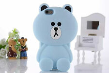 3D Cute Cartoon Bear Cat Rabbit Animal Silicone Rubber Gel Soft Phone Case Cover