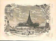 Conflit Angleterre-Birmanie Mandalay Palais du Roi Phibo Amarapoura GRAVURE 1885