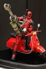 Deadpool Statue Gentle Giant Vespa Scooter Rare!