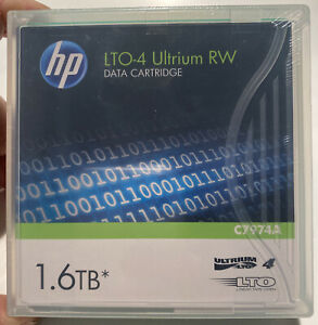 1 HP LTO-4 Ultrium RW Data Cartridges 1.6TB  New/Sealed