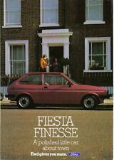 Ford Fiesta MK 1 Finesse Circa 1983 - 950 1100 1300 ORIGINAL FOLLETO No. FA615