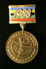 ORIG. 1988 SOVIET LATVIA USSR Sport Laureate Medal #402