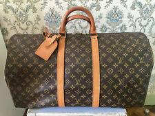 Louis Vuitton, sac week-end Bandoulière Keepall 55, en toile monogram, Vintage
