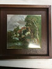 Sussex English Tile  Rural Farm Scene Mounted