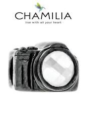 NUOVO CON SCATOLA ORIGINALE CHAMILIA 925 argento Sterling Charm Macchina Fotografica & Swarovski Perline