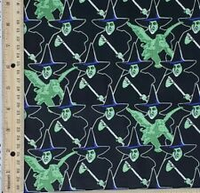 Fabric 1/4 YD Wicked Witch of the West Halloween Fabric Wizard of Oz Cotton 9X44
