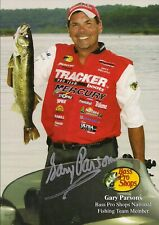 Vintage Autographed Bass Pro Shops Gary Parsons Photo Card-Hof Fisherman - Nitro