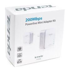 KIT TENDA 2 ADATTATORI POWERLINE 200MBPS ESTENSIONE ADSL WIFI CASA
