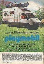 X1959 ... e vinci il camper Playmobil - Pubblicità del 1988 - Vintage advert