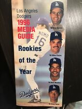 Los Angeles Dodgers 1996 Media Guide  Mike Piazza Hideo Nomo Eric Karros