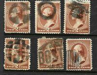 "Fancy Cancels ""Grid Ring Boston etc"" SON 2 Cent #210 Banknote 1883  US 93C34"