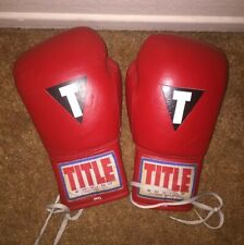 Vintage Title Boxing Gloves 12oz Red